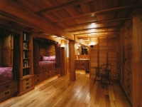 Room interior made of Southern Cypress