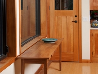 Elm sideboard and cypress exterior door