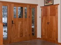 Red elm front door