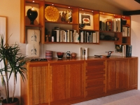 Cherry display and storage cabinetry