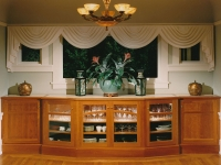 Cherry dining room buffet cabinet