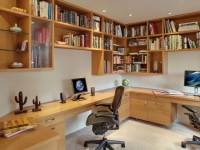 Rift white oak home office