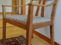 Red elm dining chair