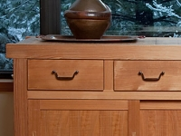 Hand-planed Southern Cypress tansu