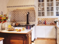 Victorian kitchen with antique Victorian store fixture